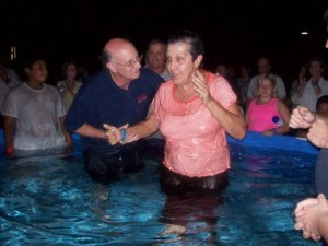 John Barrett Baptizing Shirley Royal